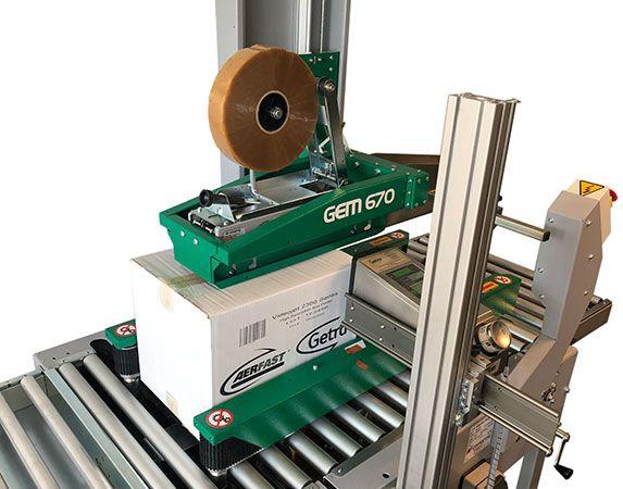 Dozensluiter met grootkarakter inkjet printer