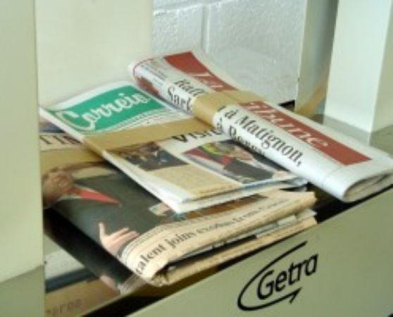 Banderoleren van drukwerk, kranten, ...