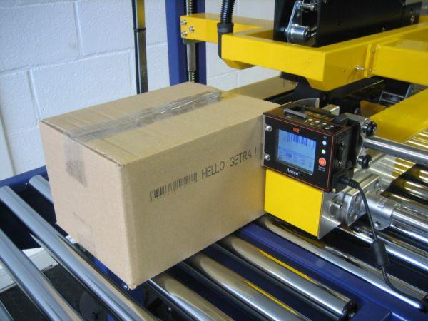 Inktjet: dozen sluiten en drukken in één doorgang