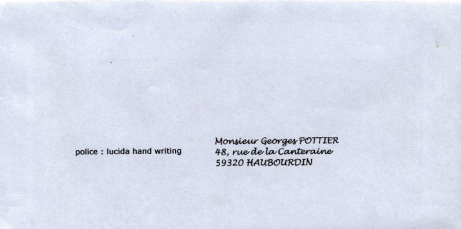 L'impression d'adresses en écriture à la main