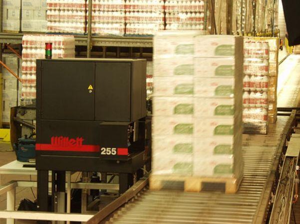 A5 palletapplicator van EAN-labels