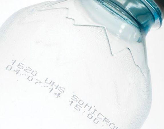 Printvoorbeeld fles